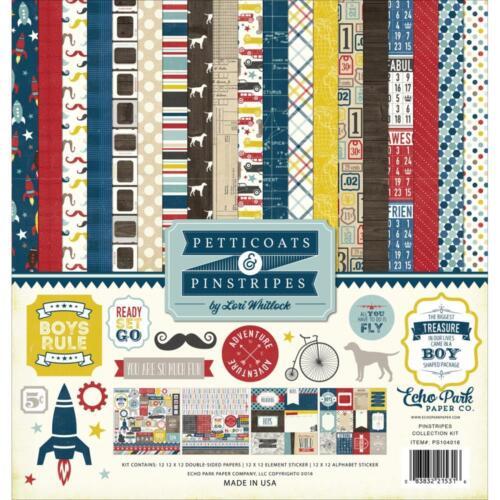 Echo Park ~ PETTICOATS /& PINSTRIPES BOY ~ Collection Kit ~ 12x12