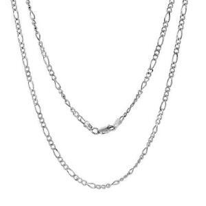 c8a0335cceb8f Details about Sterling Silver 1.8mm Figaro Chain Necklace or  Bracelet,LOBSTER CLASP,Made Italy
