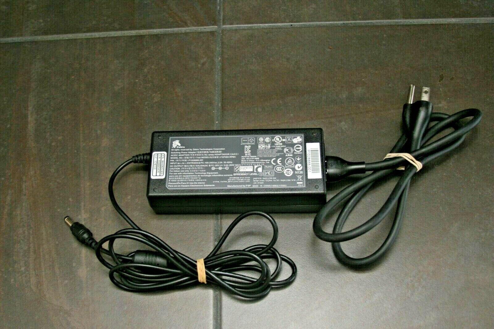 P1028888-001 9NA0602400 Power Supply Cord Accessory USA 20V 3A AC DC Adapter for Zebra FSP060-RPBA FSP060 RPBA P//N