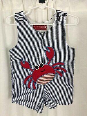 baby boy clothes 6-12 months summer Short Set Appliqué Crab