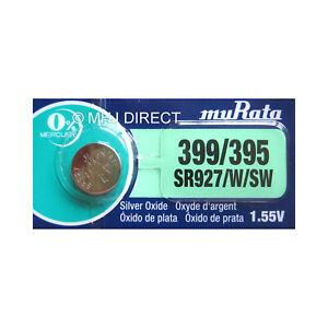 Murata-395-399-SR927-W-SW-Silver-Oxide-Watch-Batteries-SELECT-1-2-3-4-5-10-x-QTY