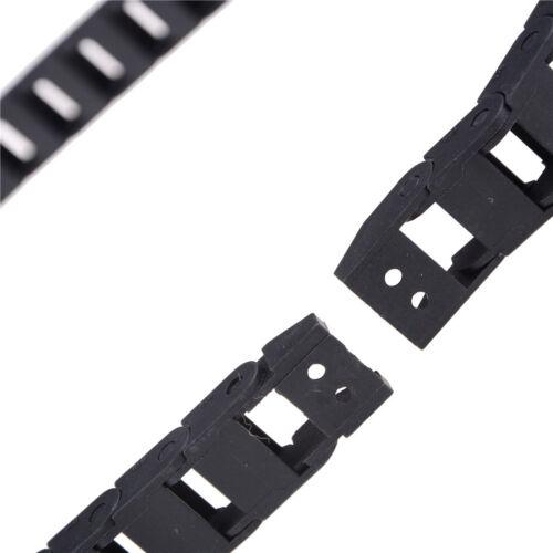 Schleppkette Kabeltrommel 10x15mm schwarz für CNC-Fräsermühleb TI