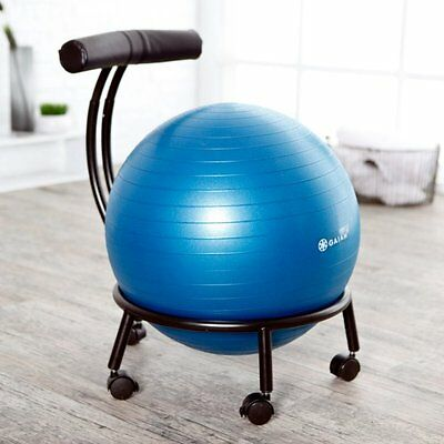 Balance Ball Chair Workout Yoga Home Desk Seat Exercise Gaiam Office Fitness