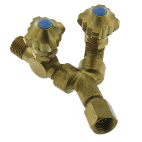 High Quality Brass Y Connector For Oxygen Line With Valve Torch Connector