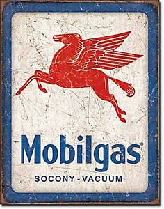 Mobilgas Pegasus metal sign   400mm x 280mm de portrait