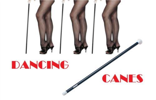 BURLESQUE//TAP DANCE STICK,BULK LOT DANCING CANES FANCY DRESS WHITE END//HANDLE