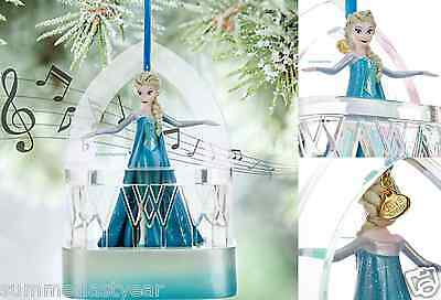 BOXED 2015 ELSA MUSICAL SKETCHBOOK ORNAMENT ~DISNEY STORE FROZEN~ FREE SHIPPING