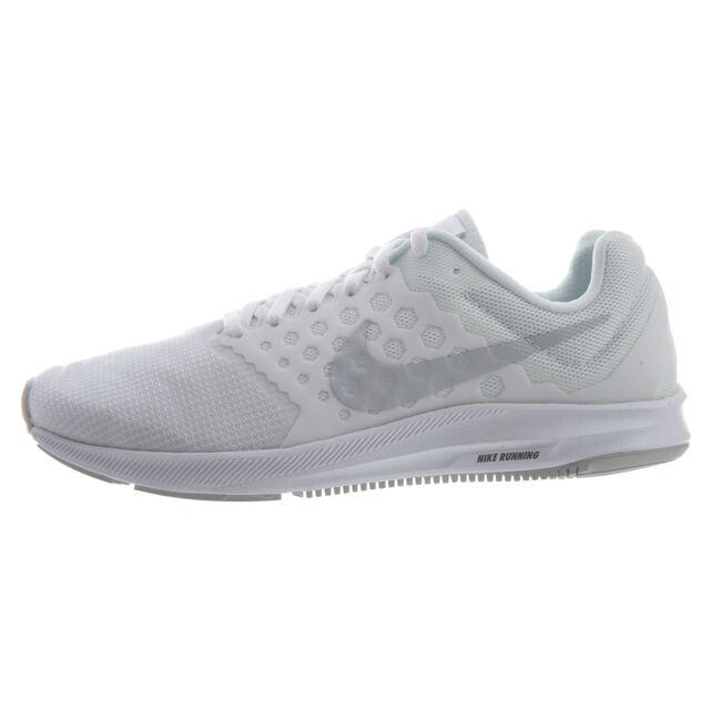b8d65e0473e0 Nike Downshifter 7 Mens White Athletic Running Shoes 11.5 White pure ...