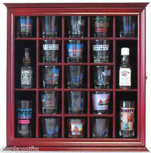 Image Is Loading 21 Shot Gl Display Case Holder Wall Curio