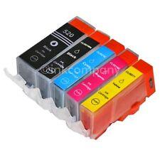 5 PATRONEN kompatibel PGI 521BK CLI 520BK 521C 521 M 521Y mit Chip 5 Stück CANON