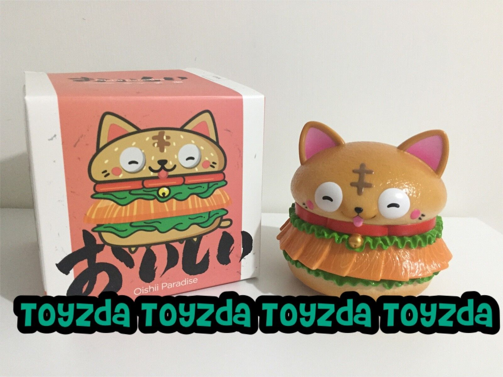 Fools Paradise Oishii Paradise Kitten burger Hamburger Vinyl Figure 1pc