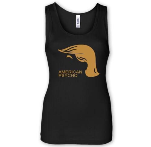 TRUMP AMERICAN  PSYCHO Tank Top Funshirt Anti Trump Demokratie USA Antifa