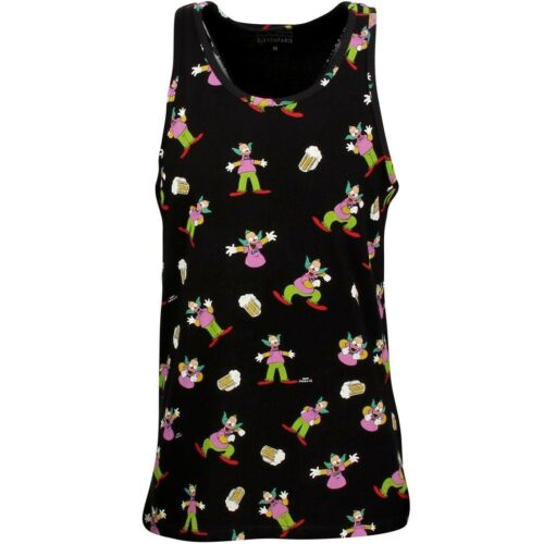 Krusty Tank Top black Eleven Paris x Simpsons Men Krustank