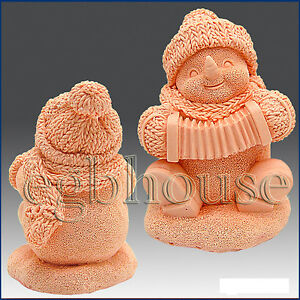 3D-silicone-Soap-polymer-clay-cold-porcelain-candle-mold-Musical-Snowman
