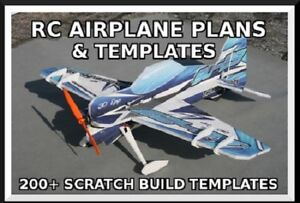Details about RC Airplane Plans - 300+ Giant Scale Templates - Scratch  Building PDF Plans