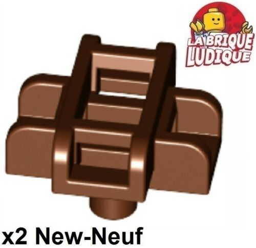 Lego 2x Body Wear Scabbard Sword Pencil Sabre Support//Holder Brown 19141 New