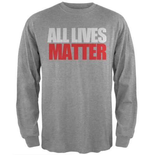 All Lives Matter Heather Grey Adult Long Sleeve T-Shirt