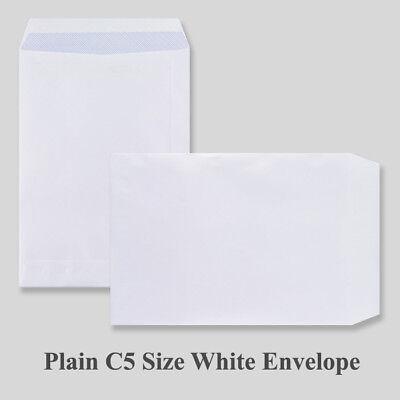 C5 PLAIN A5 White Self Seal Envelopes 5 10 50 20 50 100 250 500 1000 229x162