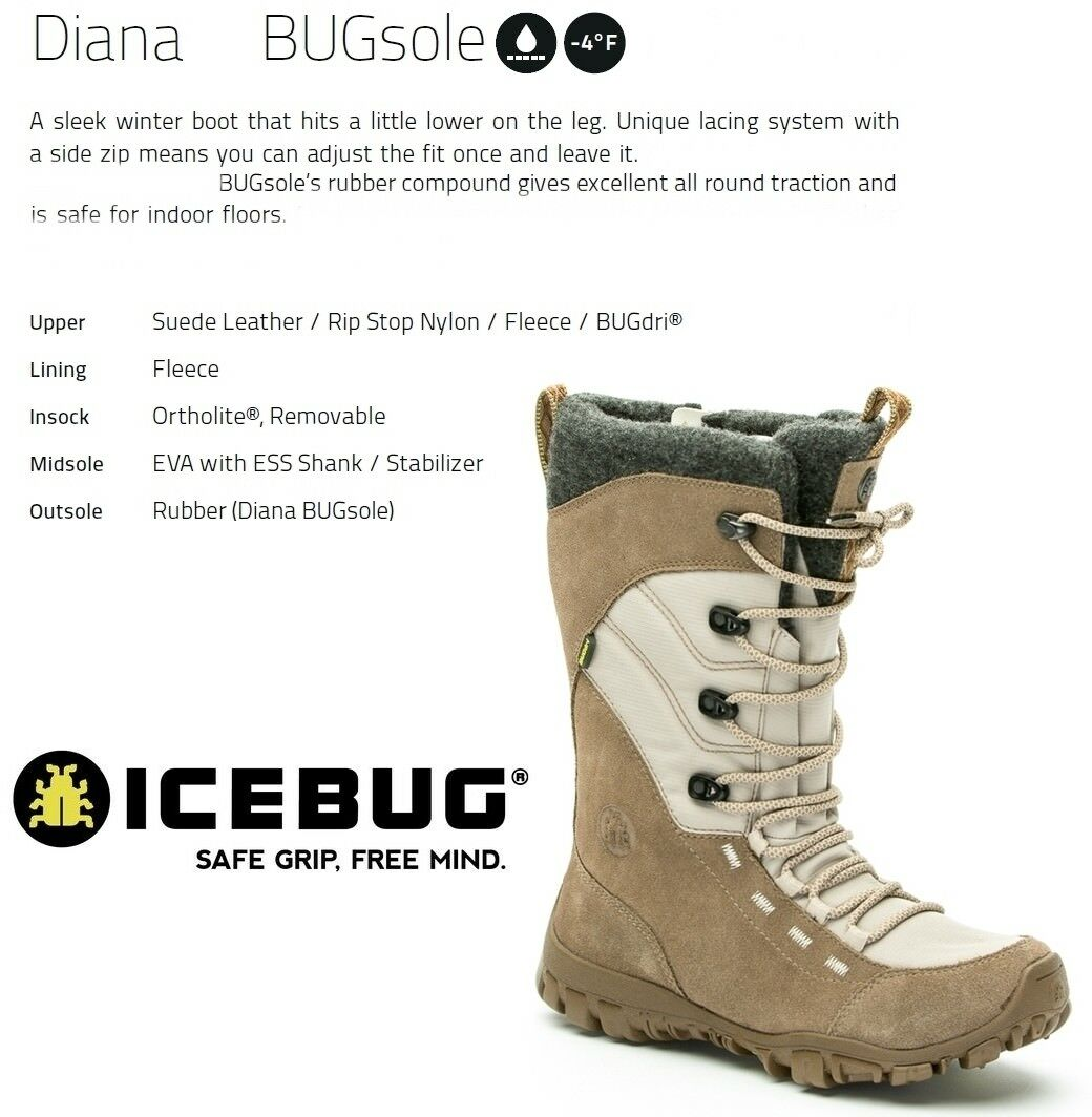 NEW Icebug Diana Bugsole Womens Winter Ice Snow Boots shoes Msrp 190
