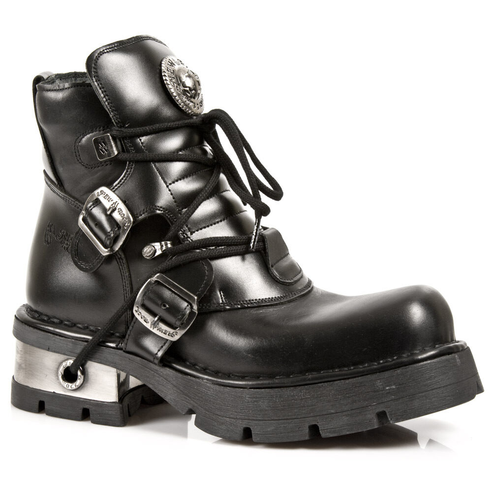 New - Rock Boots Unisex Punk Gothic Stivali - New Style 988 S1 Nero e1fb6f