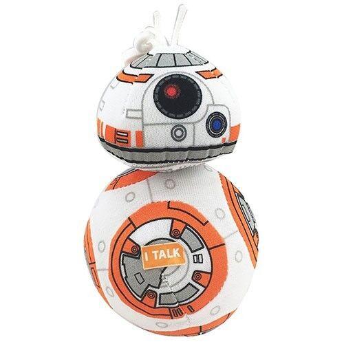 """STAR Wars BB-8 4 /""""parlare Peluche con Clip Nuovo con etichette la forza SCALDA"""