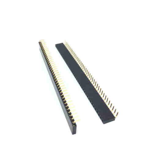 10pcs 1x40 Pin 2.54mm Right Angle Single Row Female Pin Header Connector