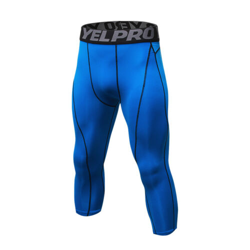 Men/'s Compression Tights Cropped Athletic Workout Running 3//4 Pants Tight fit