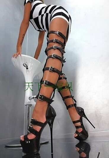 New Gladiator Womens Stiletto Sandal Super Super Super High Heel New Over Knee Leg High Boot 27b7e7