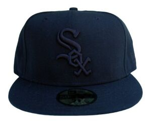 newest collection f20e8 f2080 Image is loading MLB-Chicago-White-Sox-New-Era-59Fifty-Black-