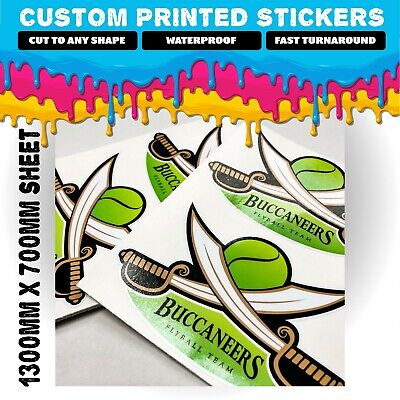 Custom Printed Contour Kiss Cut Vinyl Stickers Decal Labels Waterproof Any Shape