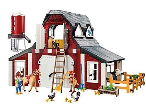 ENFANTS  PLAYMOBIL ferme grange silo lot jeu semblant Garçon Cadeau Cheval Vache Poulet NEUF  livraison éclair