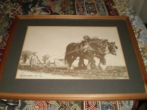 Ploughing-with-heavy-horses-Limited-Edition-Signed-FRAMED-PRINT-1979