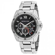 f0ff440189e7 item 3 NEW Michael Kors Brecken Silver Tone Black Dial MK8438 Chronograph  Mens Watch -NEW Michael Kors Brecken Silver Tone Black Dial MK8438  Chronograph ...