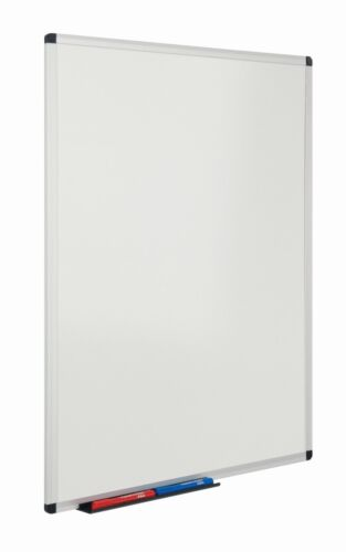 5 sizes available Drywipe Steel Magnetic Whiteboard with Fixings and Pen Tray