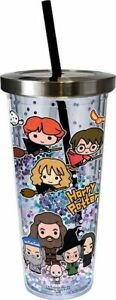 Harry Potter Chibi 18oz Acrylic Cup With Straw & Glitter!