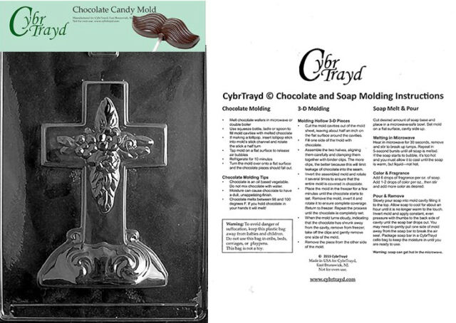Cross on Base Chocolate Candy Mold Religious  838 NEW