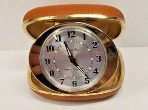 Westclox-Travel-Ben-Vintage-Windup-Alarm-Clock-Case-Made-In-USA-Luminous-Hands