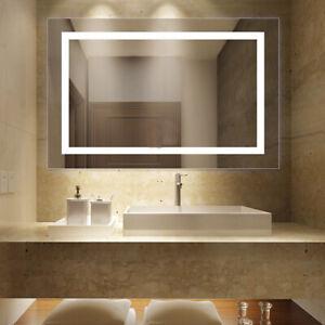 Details zu Badspiegel LED Badezimmerspiegel Beleuchtet Bad Spiegel  Wandspiegel 50x70