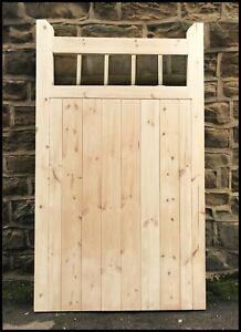 garden-gate-wooden-cottage-style-tall-pedestrian-gate-round-hardwood-spindle