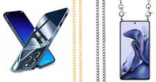 Funda Silicona Gel TPU Colgante Cordon Metalizado Para Apple iPhone 13 Pro...