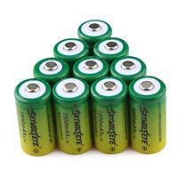 10pcs 1800mah Cr123a Rechargeable Batteries 3.7v 16340 For Flashlight /laser Pen