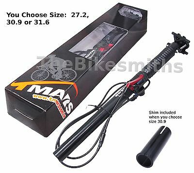 TMARS 419L 27.2 30.9 x 445mm Dropper Seatpost w//Remote Post MTB Downhill Bike