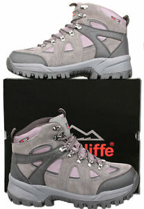 Mens-New-Grey-Leather-Waterproof-Hiking-Trail-Boots-Size-6-7-8-9-10-11-12-13