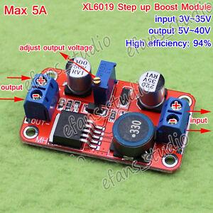 Details about 5A DC-DC Step Up Power Module Boost Volt Converter 4v-35v to  5v 6v 9v 12v 24v