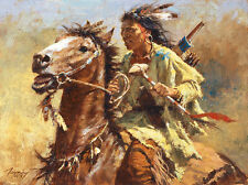 Howard Terpning WAR CHIEF SmallWorks™ Giclee Canvas, Native American #35/125