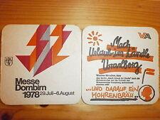 Bierdeckel Mohrenbräu mit Rückseitenmotiv, Messe Dornbirn Juli/Aug.1978  Stück