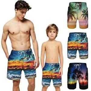 Dads Boys Swimming Shorts Men Kids Swim Trunks Sports School Beach Wear  Swimwear   eBay