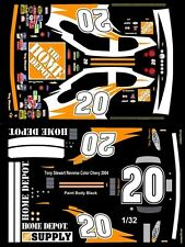 #20 Tony Stewart Reverse Color Chevy 2004 1/32nd Scale Slot Car Waterslide Decal