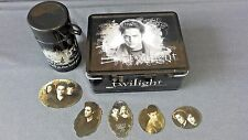 EDWARD ~TWILIGHT METAL LUNCH BOX WITH THERMOS + 5 MAGNETIC CHARACTER STICKERS