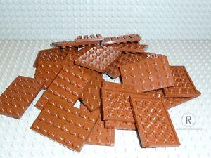 LEGO-30-Platten-Plaettchen-Plate-4x6-neues-braun-rotbraun-reddish-brown-3032-Neu